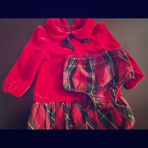 Ralph Lauren baby red dress with bloomers
